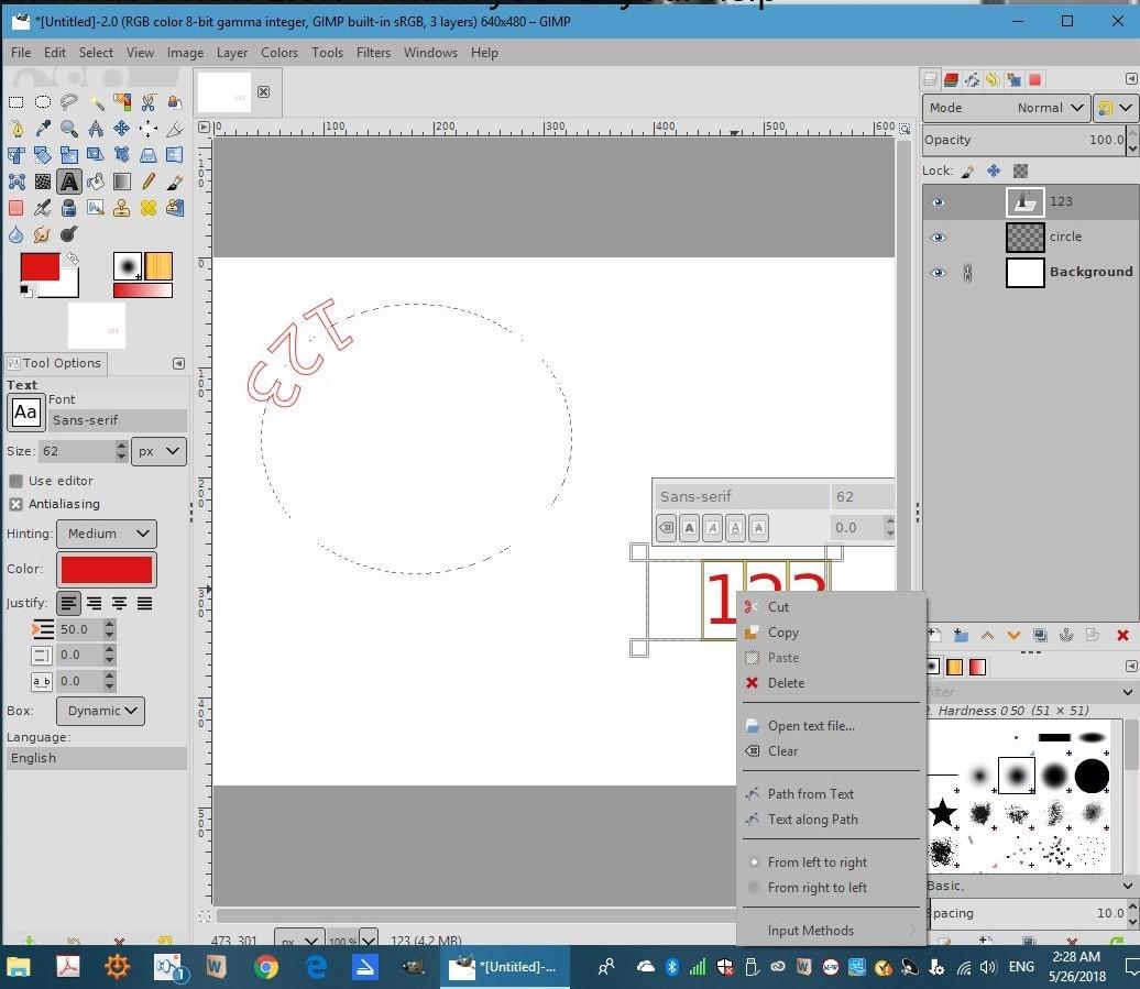 GIMP 2.10.8 Desatendido Attachment